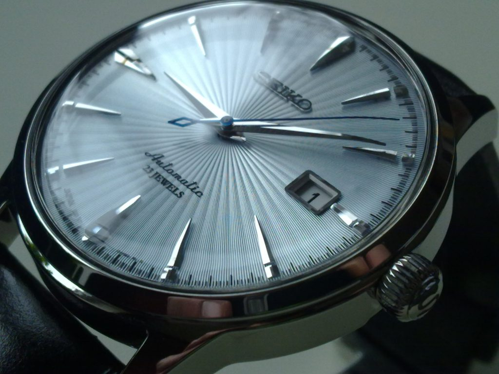 Seiko SARB065 review - sunburst guilloche dial
