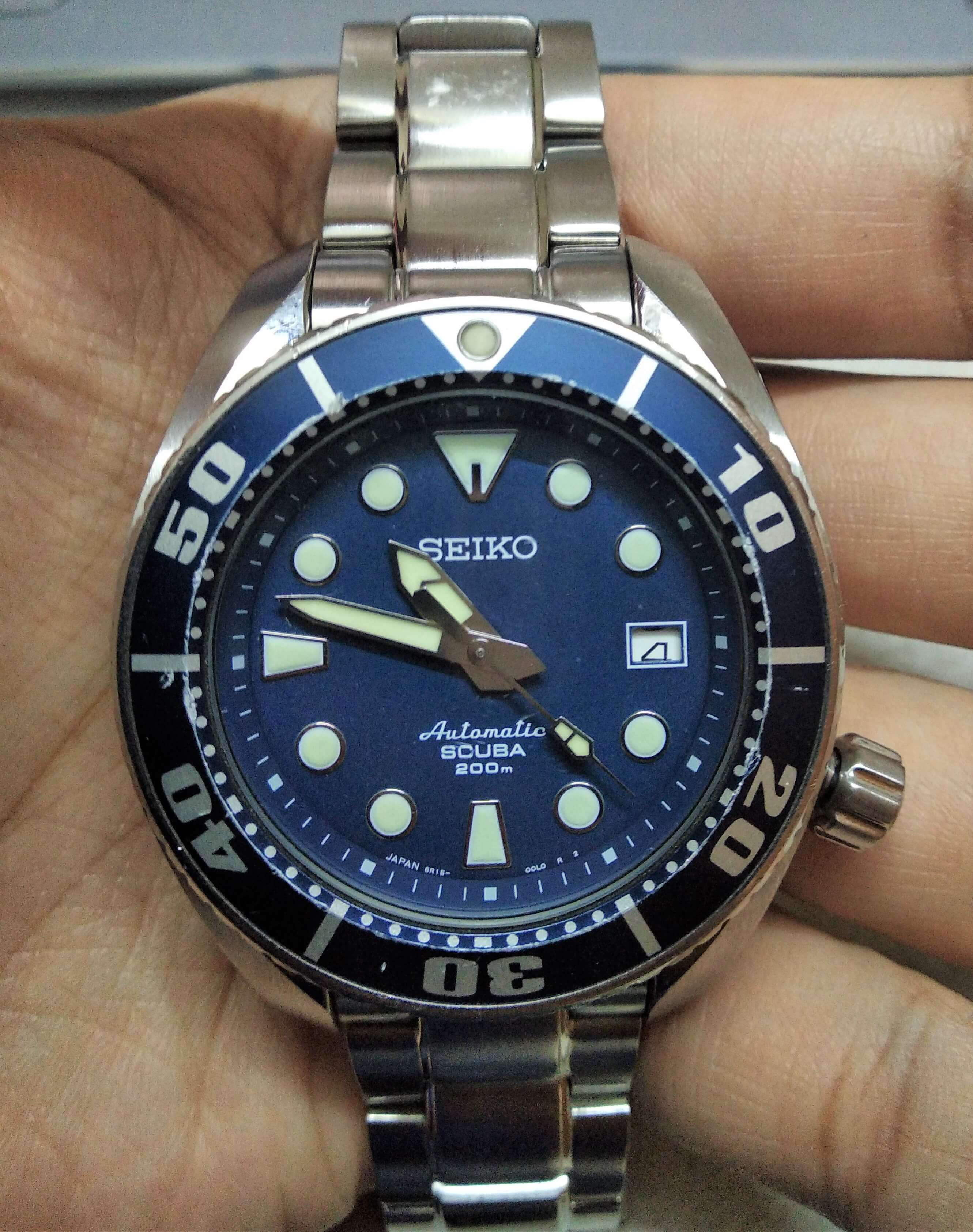 Seiko Sumo 6R15 changing date