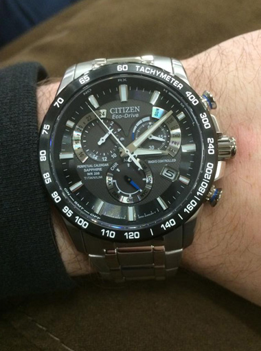 Citizen Eco-Drive Perpetual Chronograph AT4010-50E Watch Cool Gift Ideas For Men