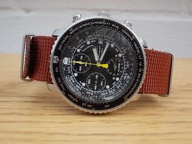 seiko-flightmaster-alarm-chronograph-sna411-review-nato-strap