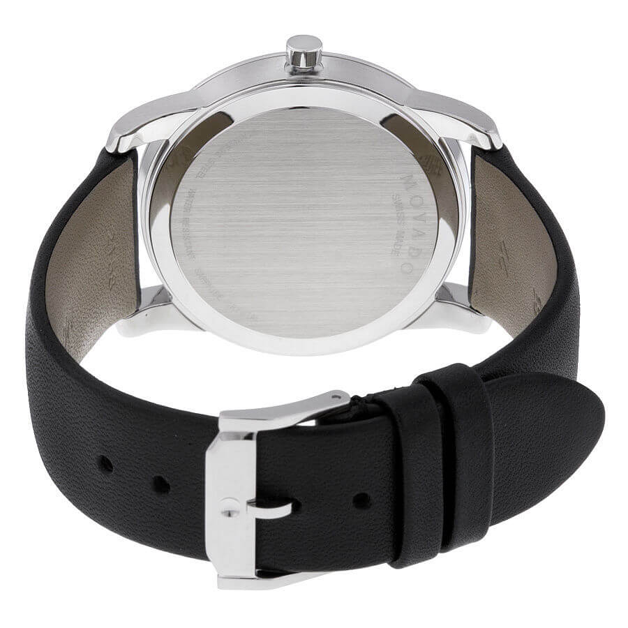 Movado Museum Watch Back Leather Strap