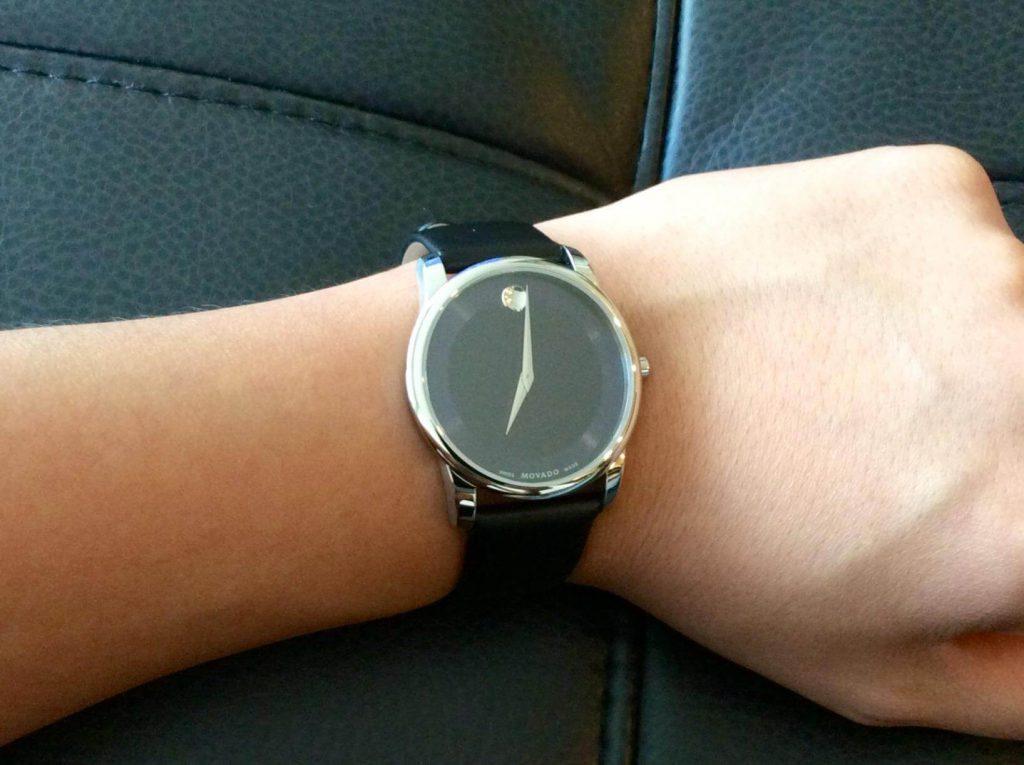 movado watch on wrist ,movado two tone museum watch