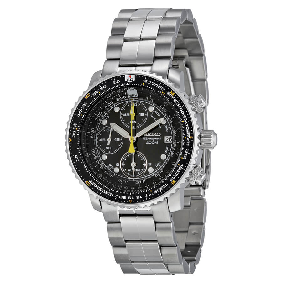 Seiko FlightMaster Alarm Chronograph SNA411