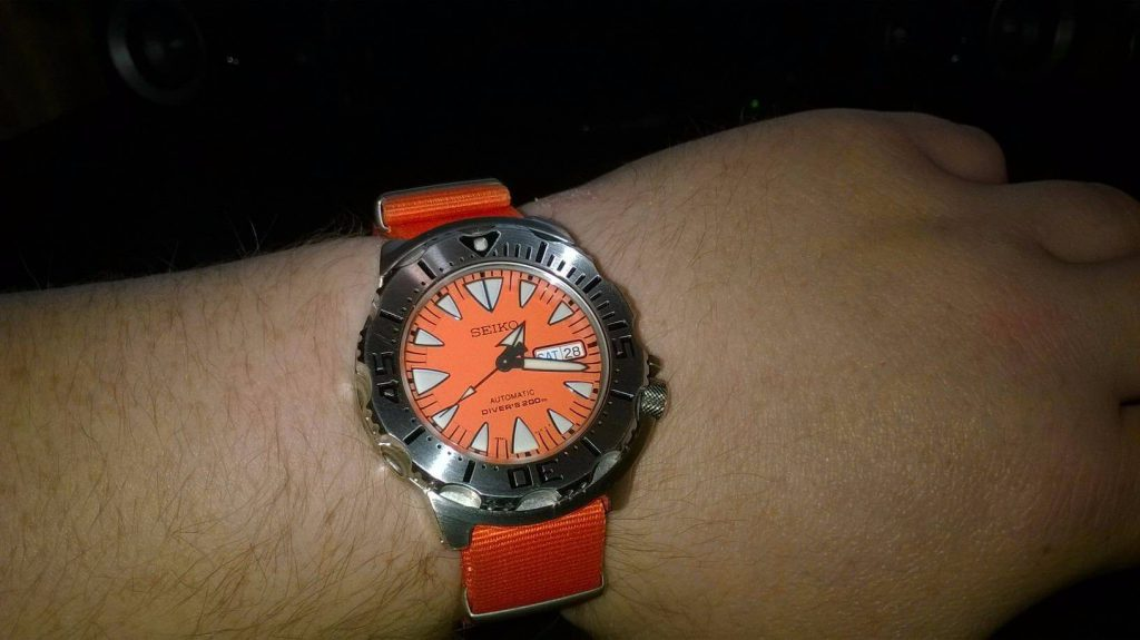 Seiko Orange Monster Nato