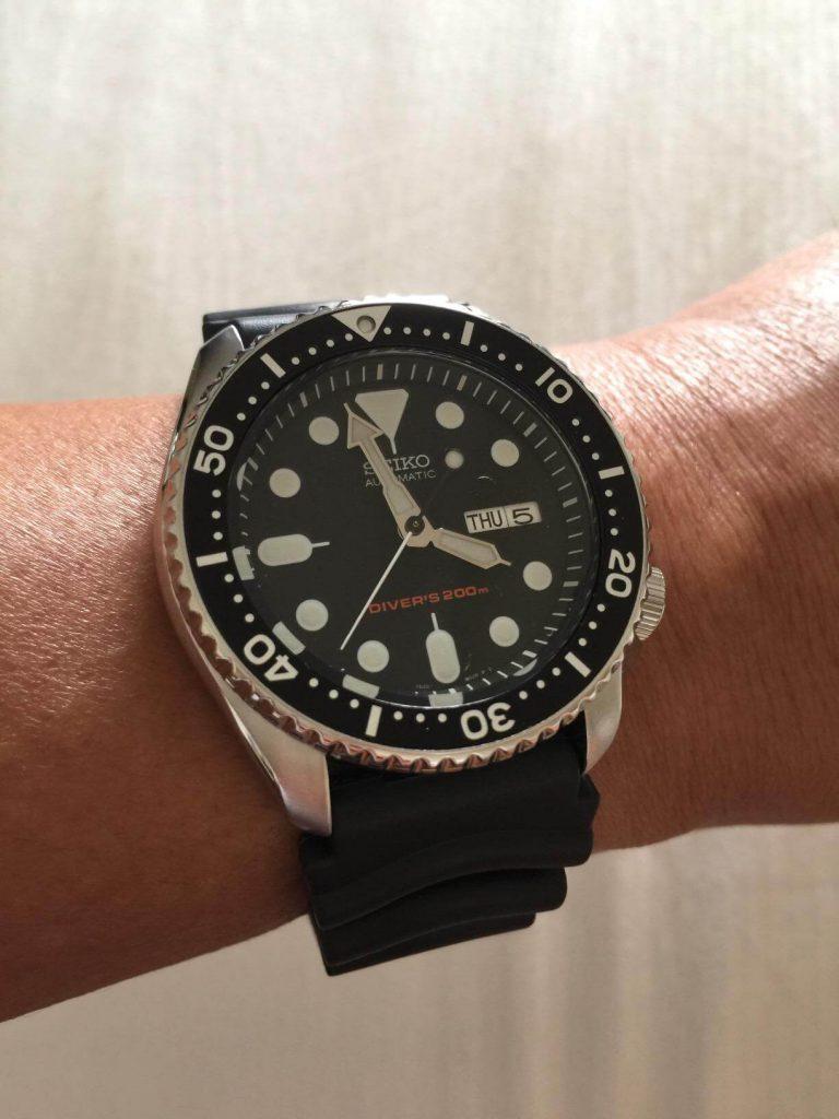 Seiko SKX007 on hand