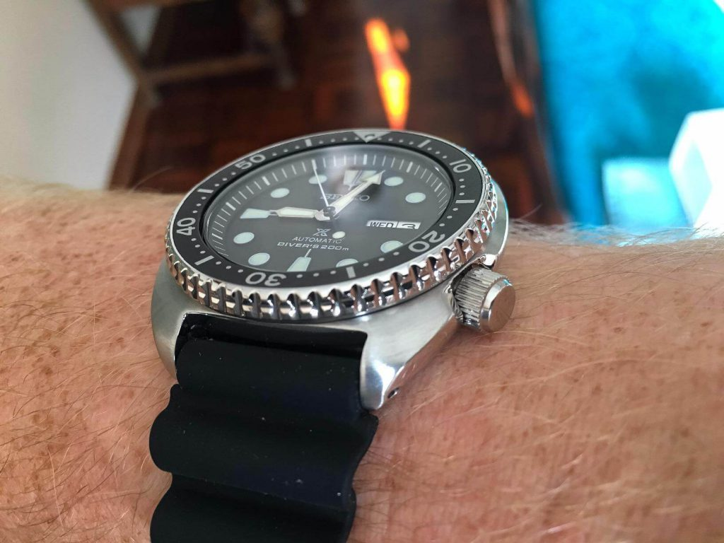 Seiko SRP777 on hand side