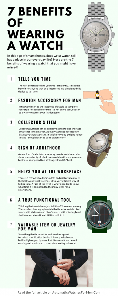 7 Benefits Of Wearing A Watch Infographic