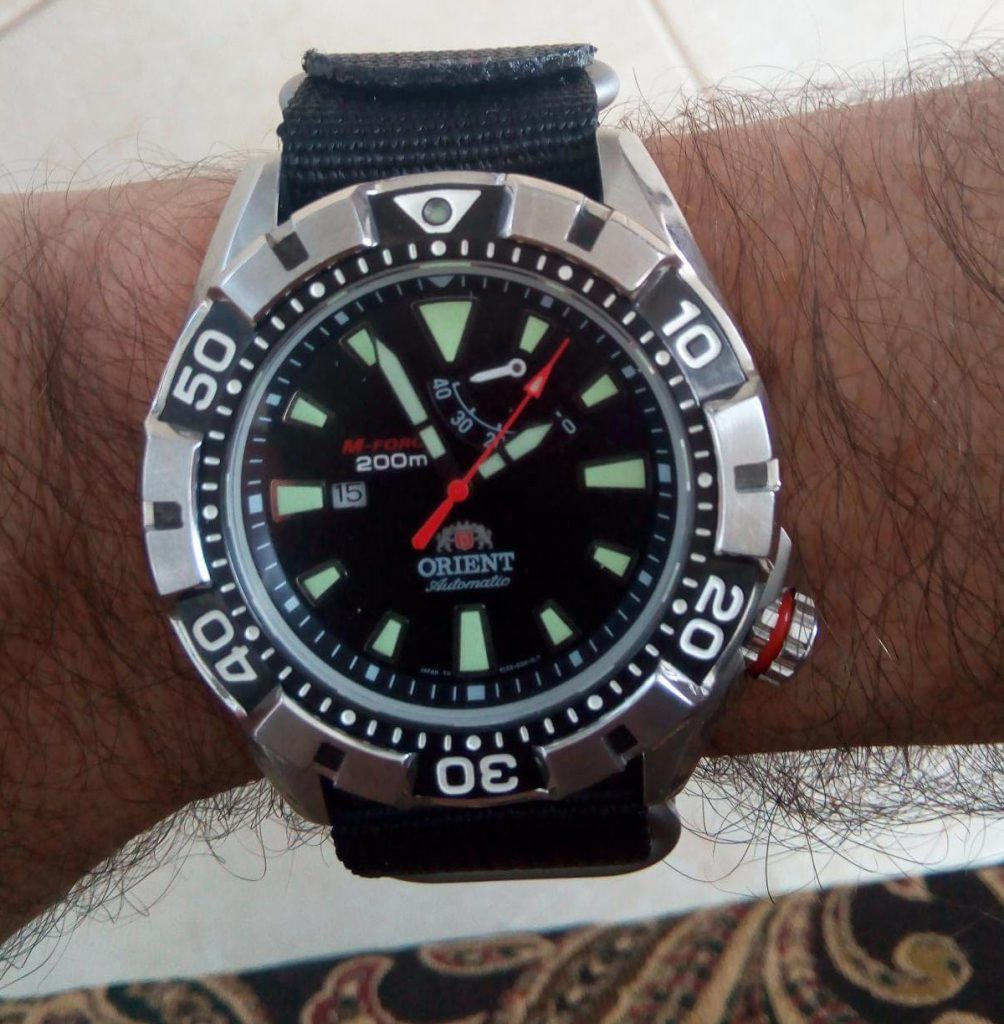 Orient M-Force On Hand