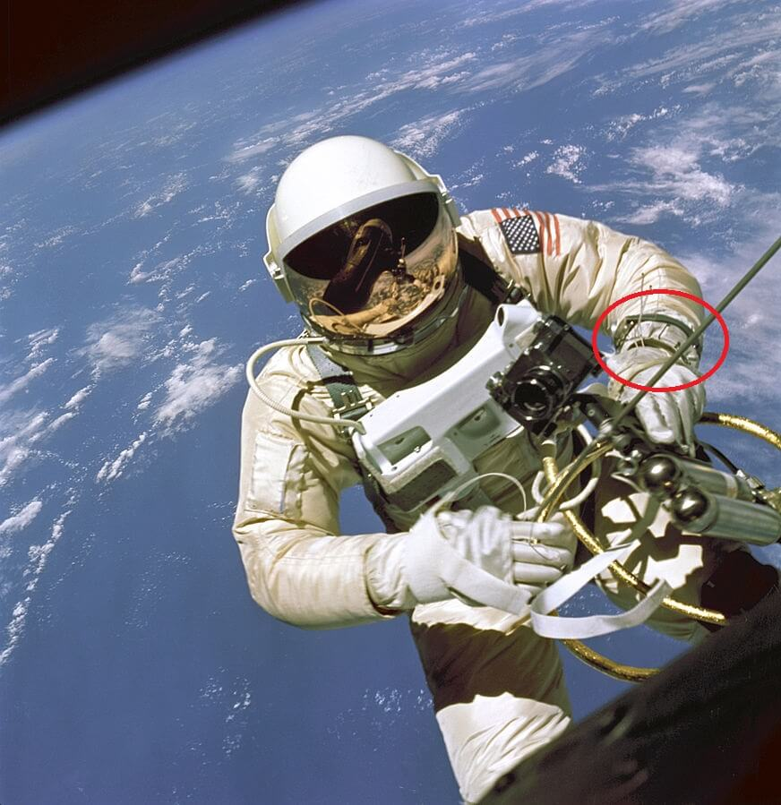 Edward White wearing omega speedmaster spacewalk