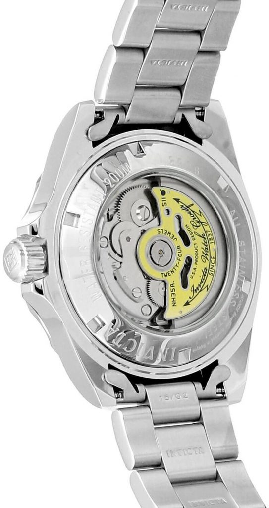 Invicta 8926 Exhibition caseback