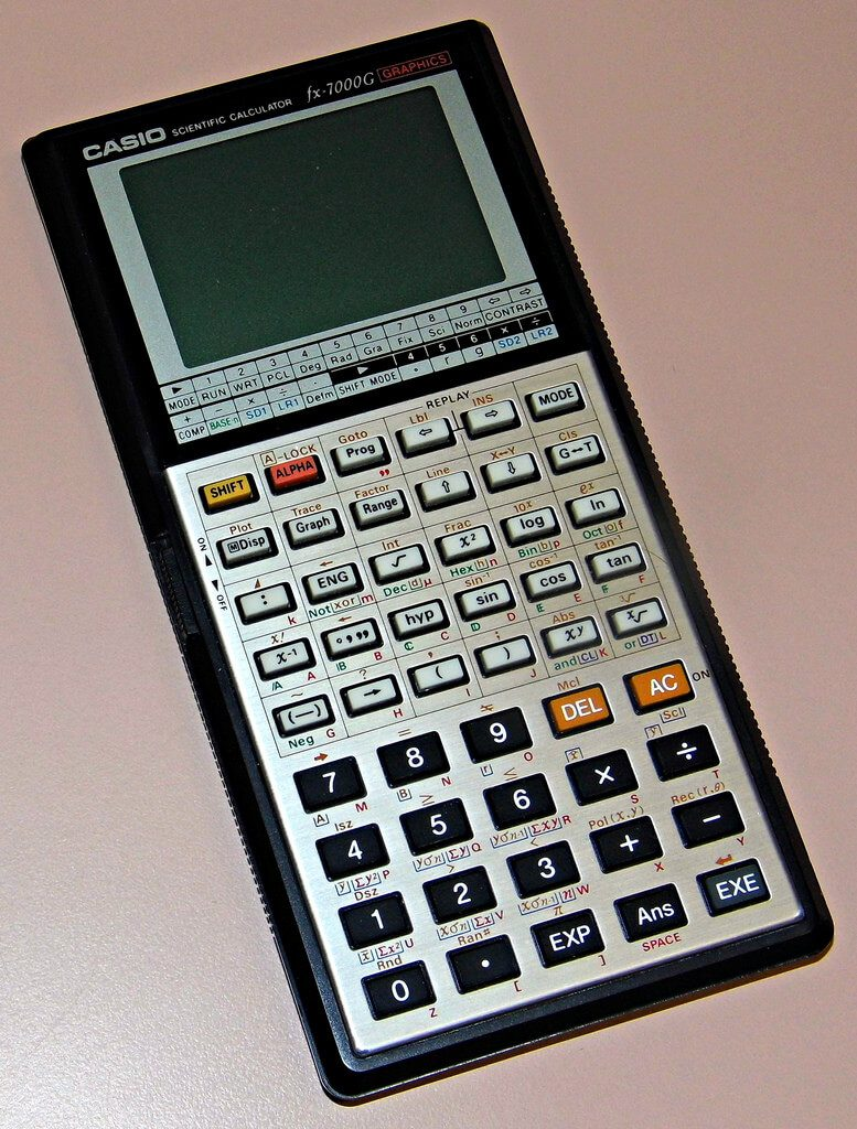 Handheld scientific calculator