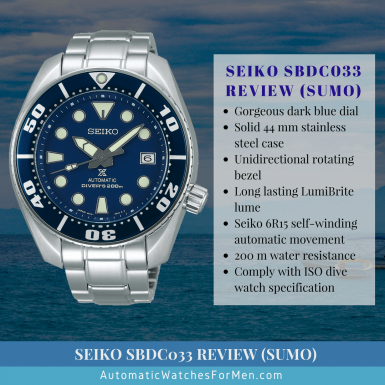 Seiko SBDC033 Review (Sumo)