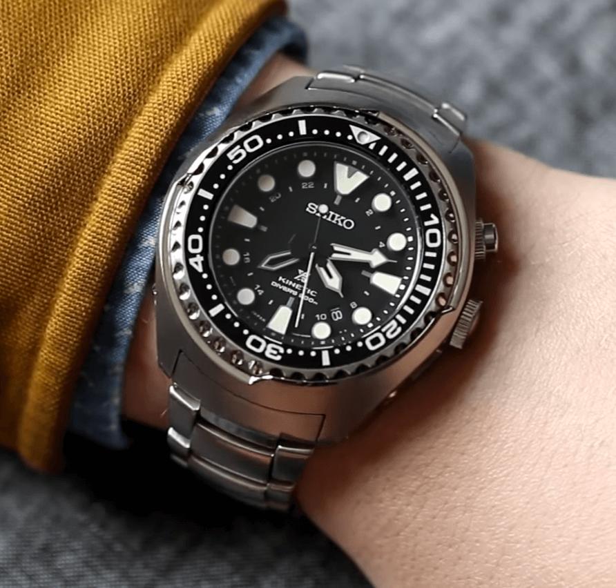 Seiko SUN019 GMT watch