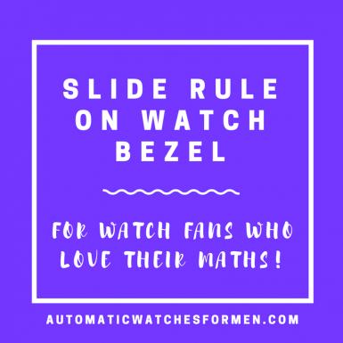 Slide Rule On Watch Bezel