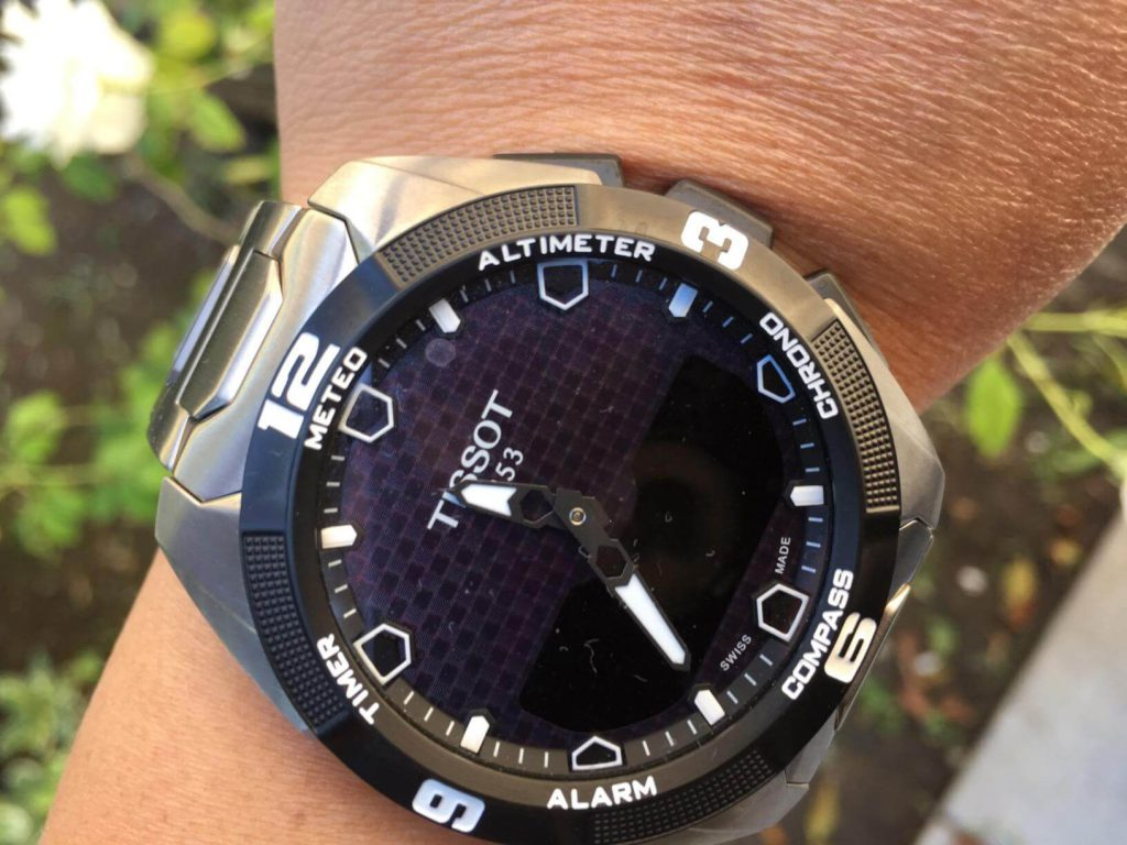 Tissot T-Touch on hand