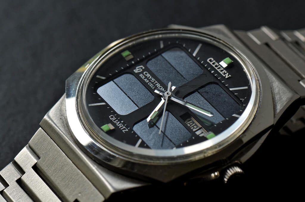 Citizen Crystron solar watch