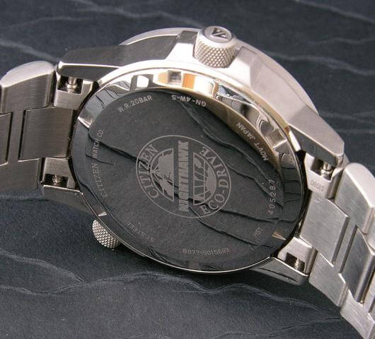 Citizen Nighthawk watch caseback