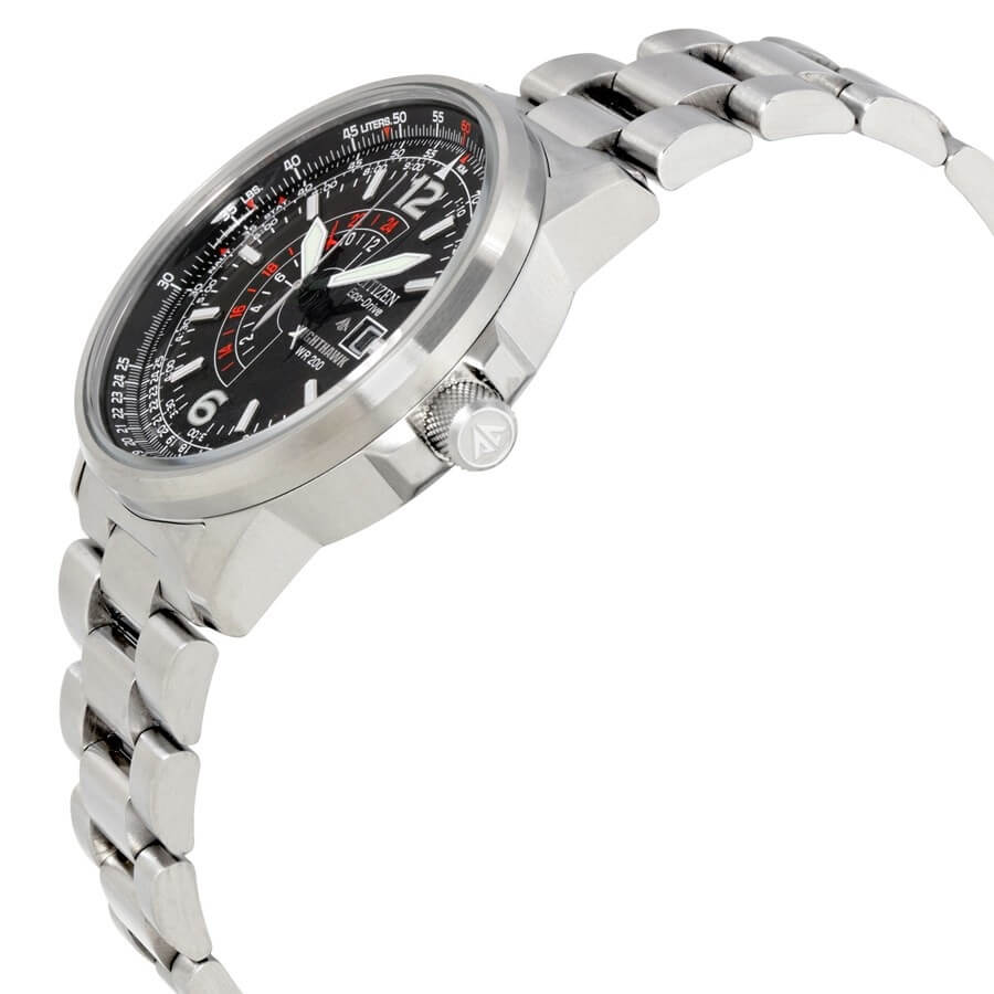Citizen Nighthawk watch side