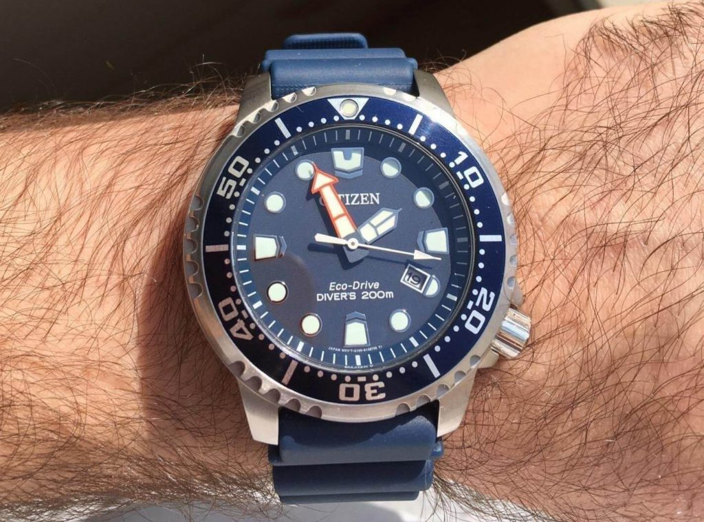 Citizen Promaster Diver on hand