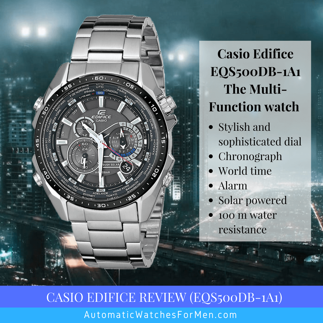 Casio Edifice Review (EQS500DB-1A1)