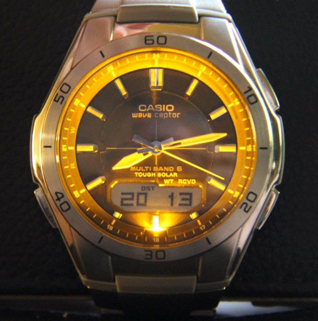 Casio wave ceptor LED light
