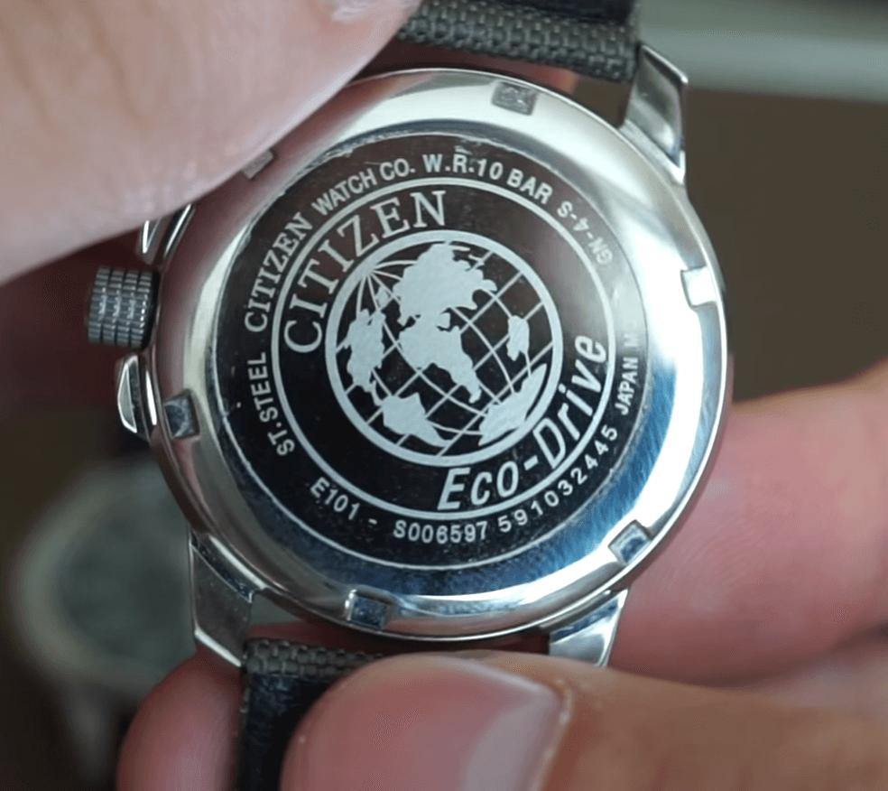 Citizen BM8180-03E watch caseback