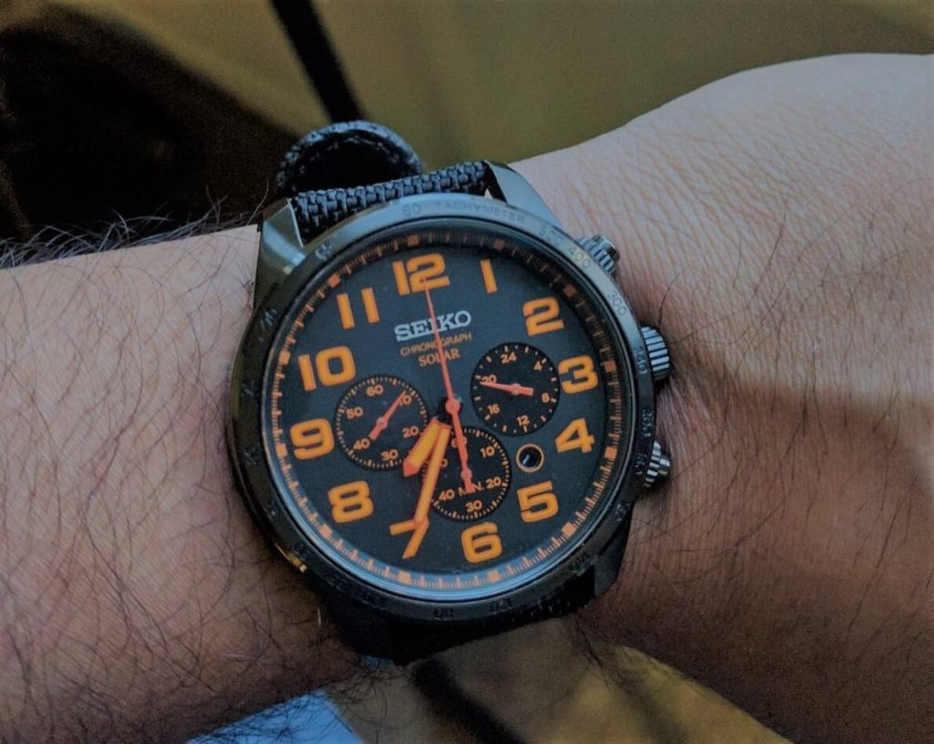 Seiko SSC233 on hand