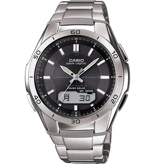 casio wave ceptor watch front