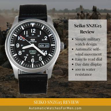 Seiko SNZG15 Review