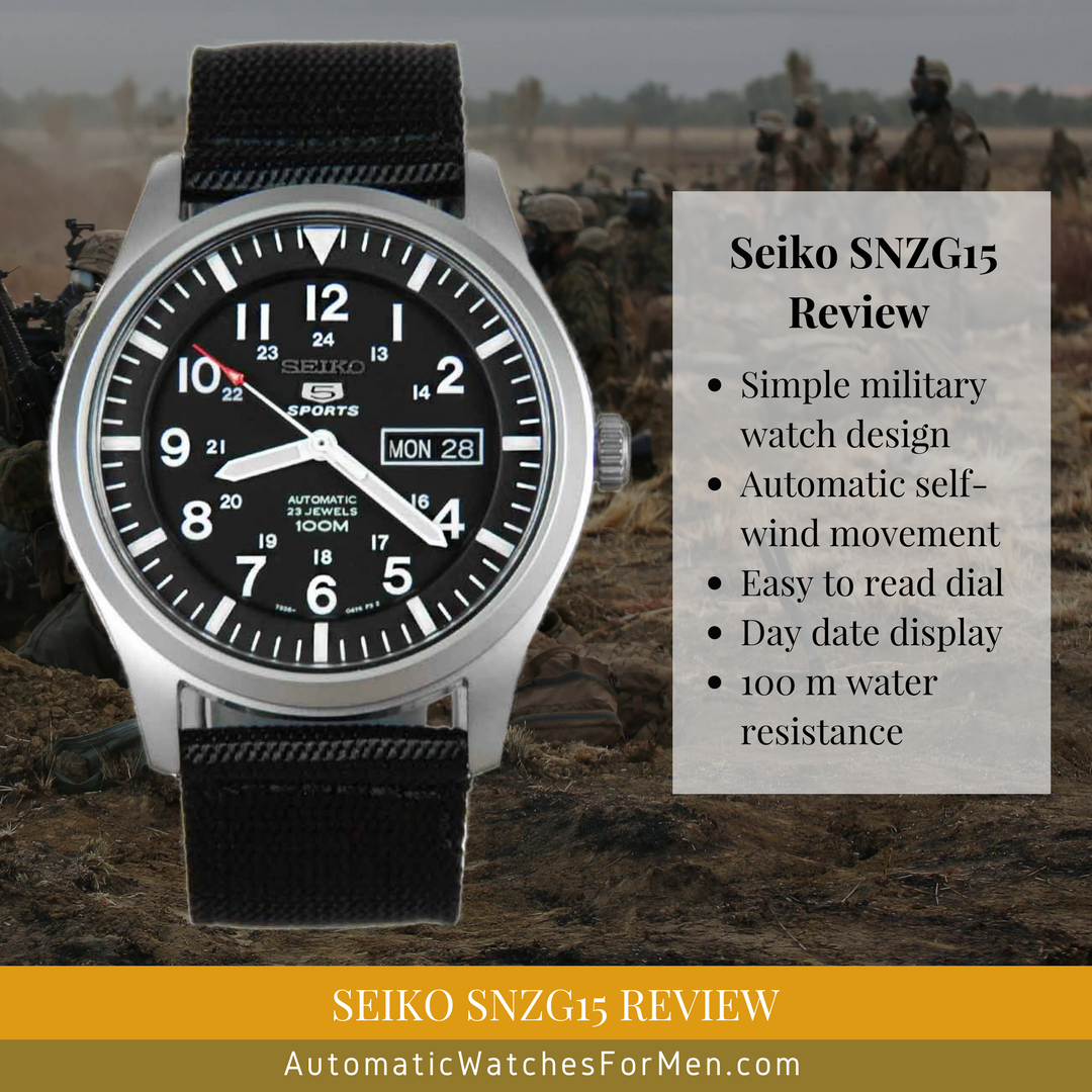 Seiko SNZG15 Review