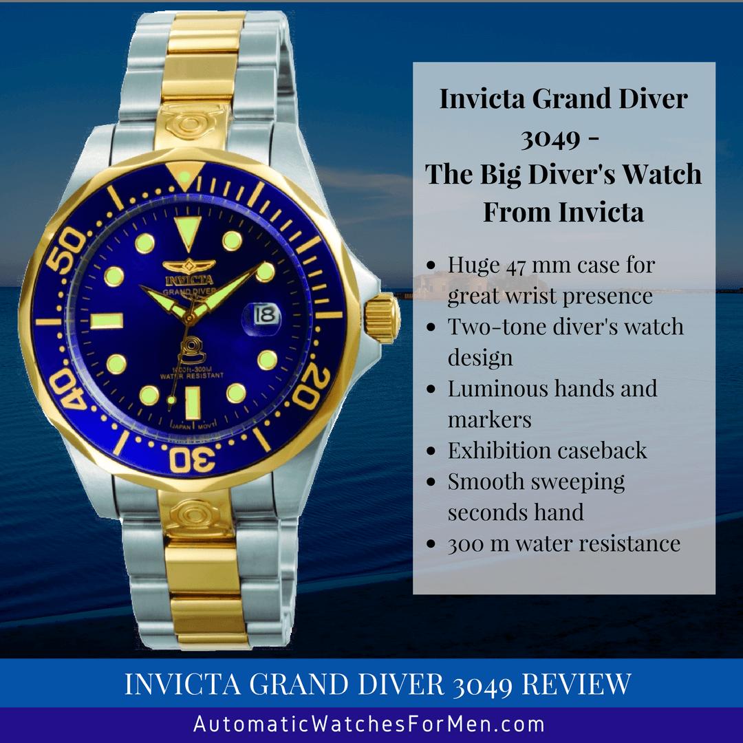 Invicta Grand Diver 3049 Review