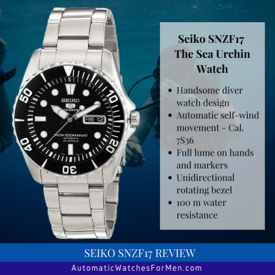 Seiko SNZF17 Review