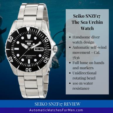 25f67042a8634 Seiko SNZF17 Review - Sea Urchin