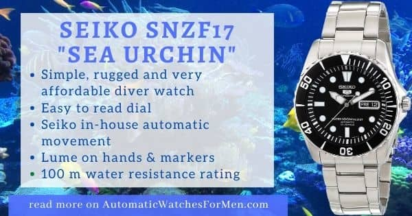Seiko SNZF17 Sea Urchin Review