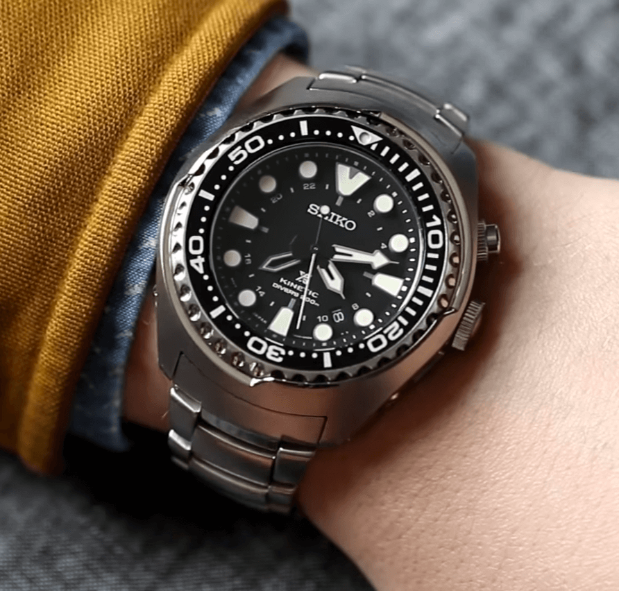 4. Seiko SUN019 kinetic watch