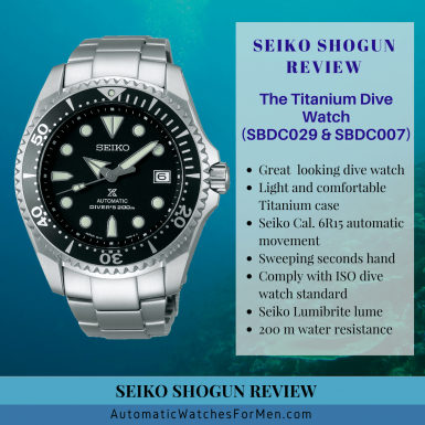 Seiko Shogun SBDC029 Review
