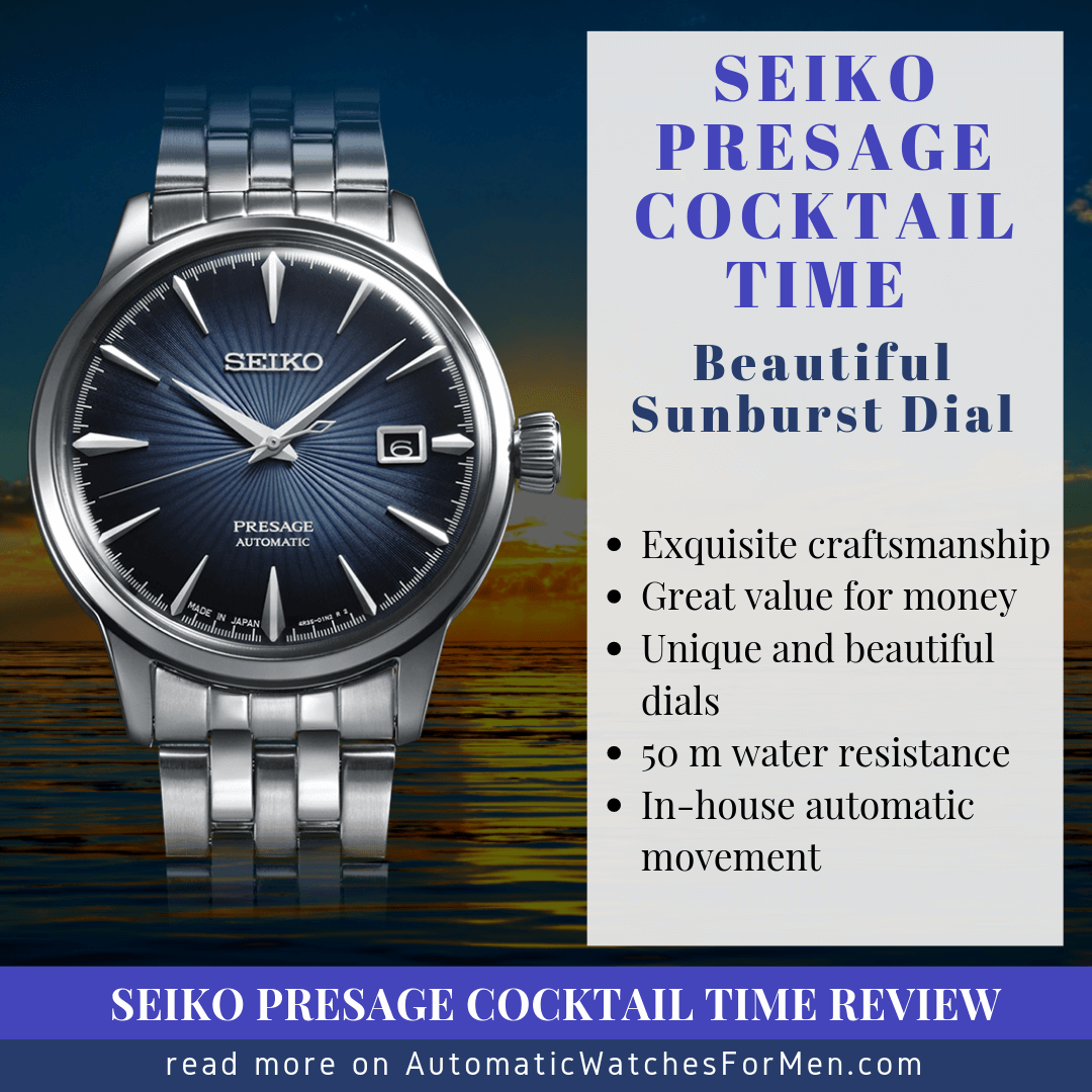 Seiko Presage Cocktail Time Review
